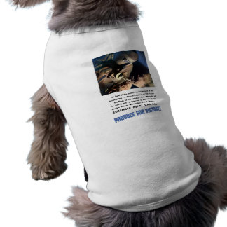 Remember Pearl Harbor! Produce For Victory! Doggie Tee