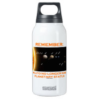 Remember: Pluto No Longer Has Planetary Status 10 Oz Insulated SIGG Thermos Water Bottle