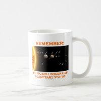 Remember: Pluto No Longer Has Planetary Status Classic White Coffee Mug