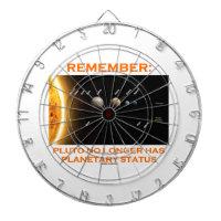 Remember: Pluto No Longer Has Planetary Status Dart Board