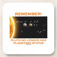 Remember: Pluto No Longer Has Planetary Status Drink Coaster