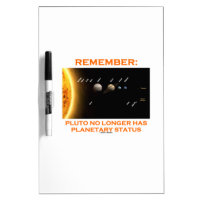 Remember: Pluto No Longer Has Planetary Status Dry Erase Whiteboards
