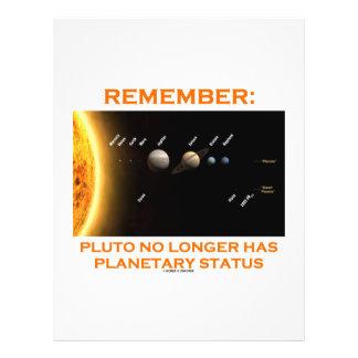 Remember: Pluto No Longer Has Planetary Status Full Color Flyer