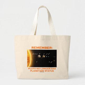 Remember: Pluto No Longer Has Planetary Status Large Tote Bag