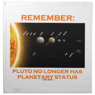 Remember: Pluto No Longer Has Planetary Status Napkin