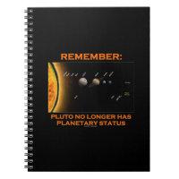 Remember: Pluto No Longer Has Planetary Status Notebooks
