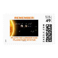 Remember: Pluto No Longer Has Planetary Status Postage Stamp