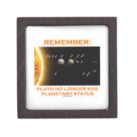 Remember: Pluto No Longer Has Planetary Status Premium Jewelry Box