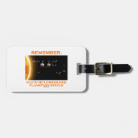 Remember: Pluto No Longer Has Planetary Status Tags For Luggage