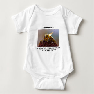 Remember Pollinators Are Important To Food Supply Baby Bodysuit
