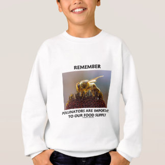 Remember Pollinators Are Important To Food Supply Sweatshirt