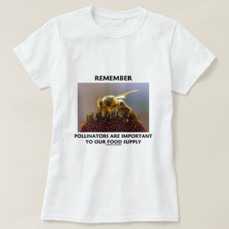 Remember Pollinators Are Important To Food Supply T Shirt