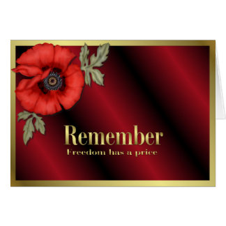 Remember Poppy Greeting Cards