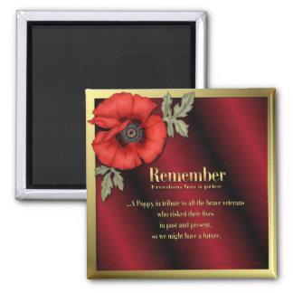 Remember Poppy Fridge Magnets