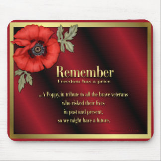 Remember Poppy Mouse Pads