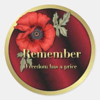 Remember Poppy Sticker