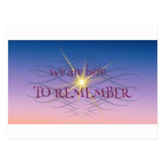 Remember Postcard