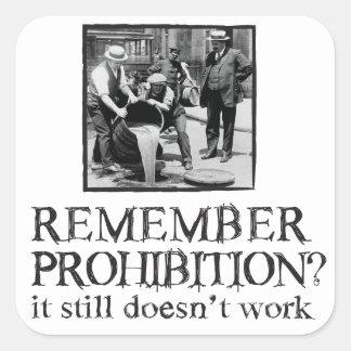 Remember Prohibition? Square Sticker