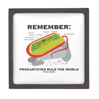 Remember: Prokaryotes Rule The World (Bacterium) Premium Keepsake Boxes
