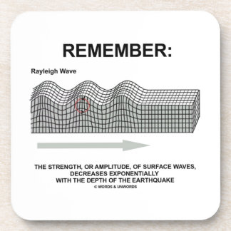 Remember: Rayleigh Wave Strength Amplitude Beverage Coaster
