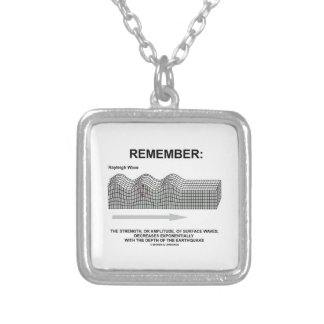 Remember: Rayleigh Wave Strength Amplitude Square Pendant Necklace