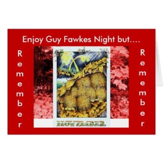Remember, Remember Guy Fawkes Party Greeting Card