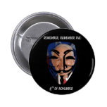 Remember, Remember the (6)th of November Button
