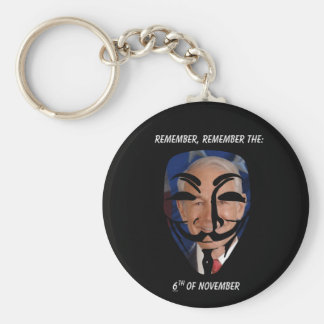 Remember, Remember the (6)th of November Key Chain