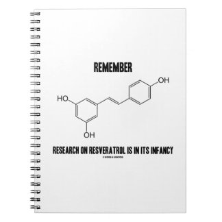 Remember Research On Resveratrol Is In Its Infancy Spiral Notebook