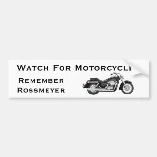 Remember Rossmeyer Car Bumper Sticker