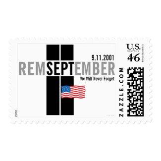 Remember September 11 Flag Gray Med Postage
