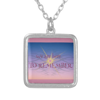 Remember Silver Plated Necklace