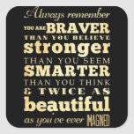 Remember Sisters.... Square Sticker