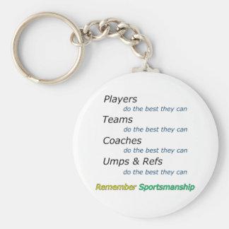 Remember Sportsmanship Keychain