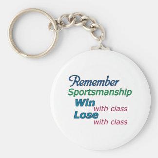 Remember Sportsmanship Key Chains