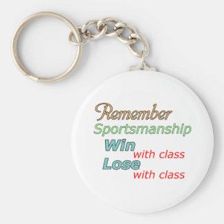 Remember Sportsmanship Key Chain