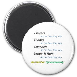 Remember Sportsmanship Magnet