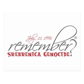 remember srebrenica genocide postcard