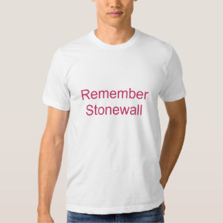 Remember Stonewall Tee Shirt