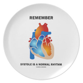 Remember Systole Is A Normal Rhythm Heart Dinner Plate
