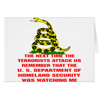 Remember That DHS Was Watching Me Card