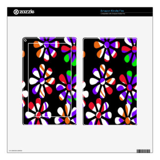 remember the 60s and 70s, colorful flowers decals for kindle fire