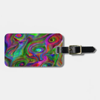 remember the 60s and 70s, fluid colors bag tag