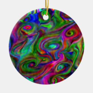 remember the 60s and 70s, fluid colors christmas ornaments