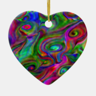 remember the 60s and 70s, fluid colors christmas tree ornament