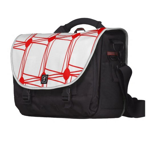 remember the 60s and 70s red pattern laptop computer bag