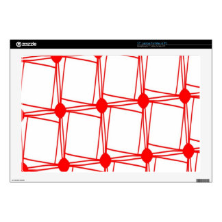 "remember the 60s and 70s red pattern 17"" laptop decal"
