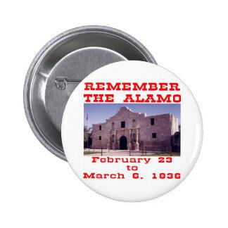 Remember The Alamo  #001 2 Inch Round Button