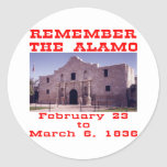 Remember The Alamo #001 Classic Round Sticker