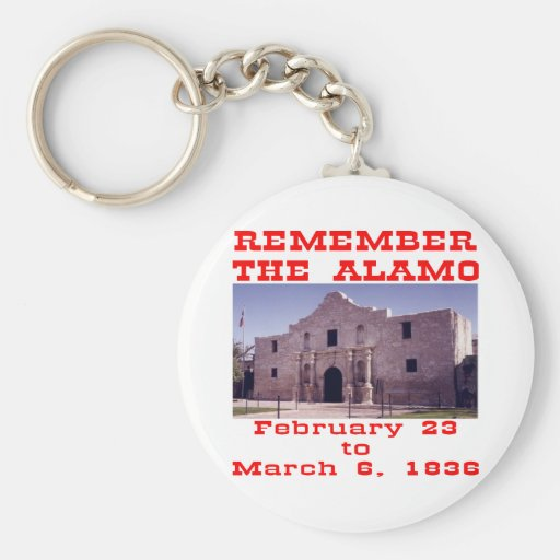 Remember The Alamo  #001 Basic Round Button Keychain